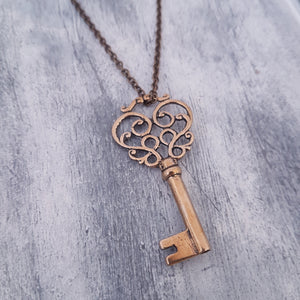 Mustache Skeleton Key - Gwen Delicious Jewelry Designs