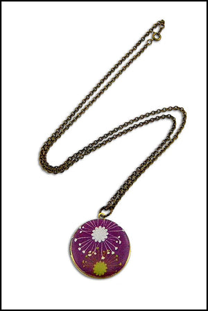 Purple Spring Vintage Theme Photo Locket - Gwen Delicious Jewelry Designs
