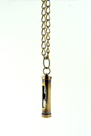 Hour Glass Sand Timer Pendant Necklace - Gwen Delicious Jewelry Designs