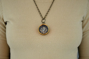 Miniature Black Compass Pendant Necklace - Gwen Delicious Jewelry Designs