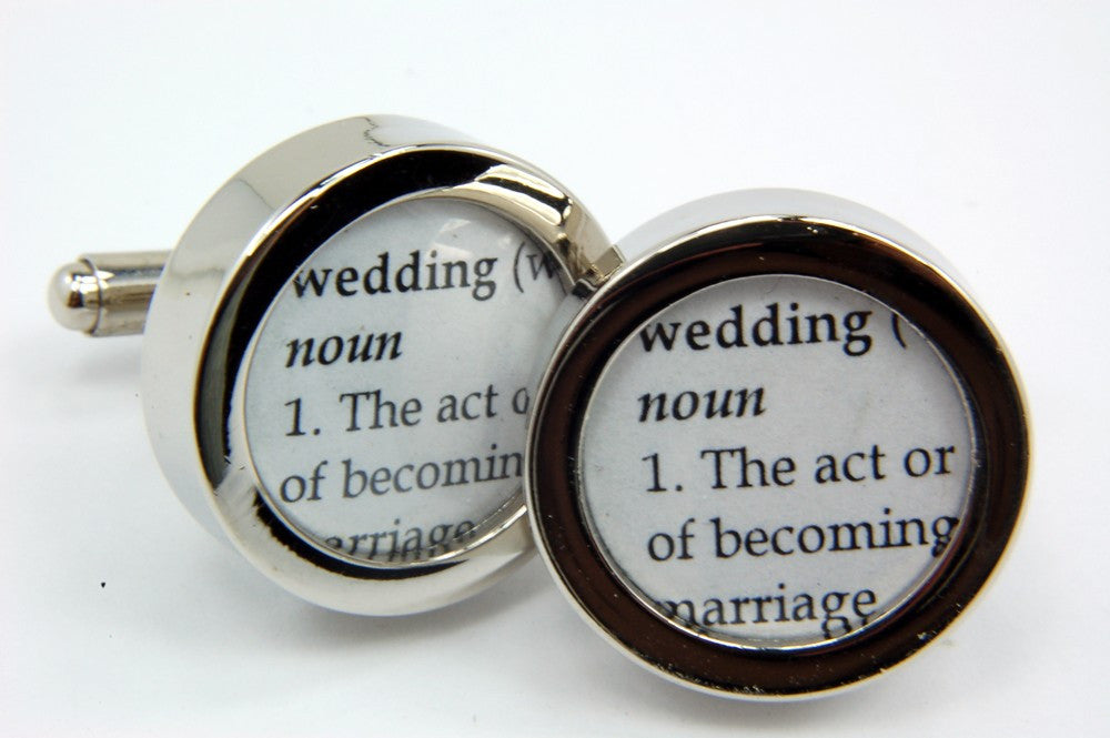 Wedding Cufflinks - Definition of  WEDDING - Cuff links - Gwen Delicious Jewelry Designs