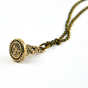 Bee Wax Seal Stamper Necklace - Gwen Delicious Jewelry Designs