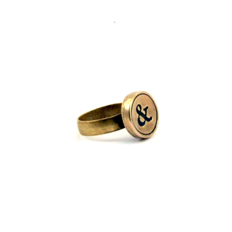 Simple Personalized Initial Ring - Gwen Delicious Jewelry Designs