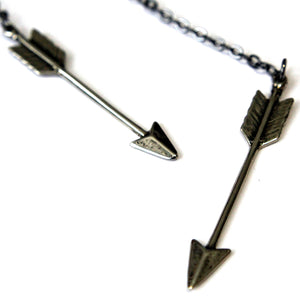 Double Arrow Lariat Necklace - Gwen Delicious Jewelry Designs