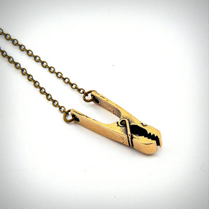 Clothes Pin Necklace - Gwen Delicious Jewelry Designs