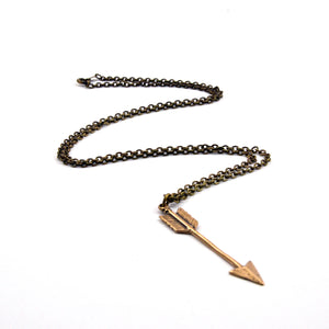 Arrow Necklace - Arrow Pendant - Gwen Delicious Jewelry Designs
