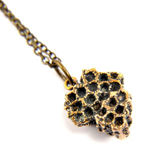 Honey Bee Comb Necklace - Gwen Delicious Jewelry Designs