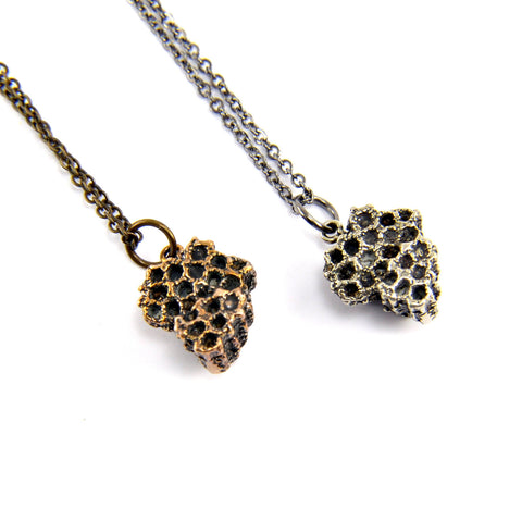 Honey Bee Comb Necklace