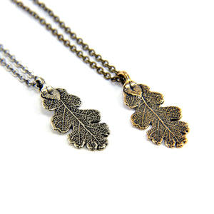 Oak Leaf Necklace - Gwen Delicious Jewelry Designs