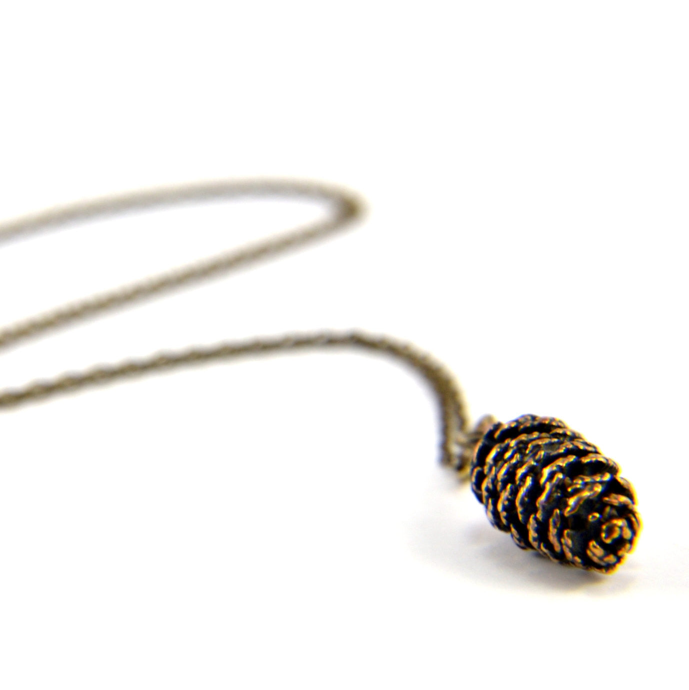 Tiny Pine Cone Necklace - Gwen Delicious Jewelry Designs