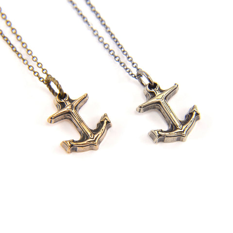 Tiny Anchor Necklace