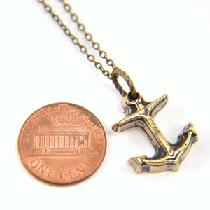 Tiny Anchor Necklace - Gwen Delicious Jewelry Designs