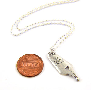 Love Pen Nib Necklace - Gwen Delicious Jewelry Designs