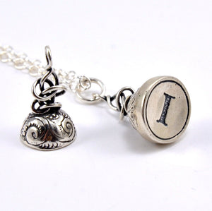 Custom Initial Letter Seal Stamper Necklace - Gwen Delicious Jewelry Designs