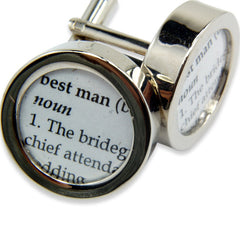 Definition of  BEST MAN - Wedding - Cuff links