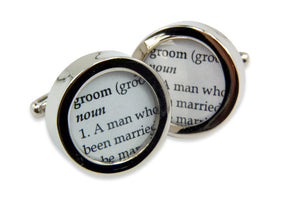 Definition of GROOM - Wedding - Cuff links - Gwen Delicious Jewelry Designs