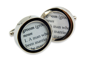 Custom Word Cuff Links - Gwen Delicious Jewelry Designs