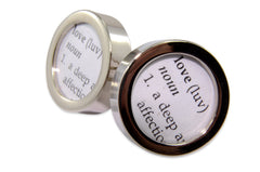 Dictionary Definition of LOVE Cuff links
