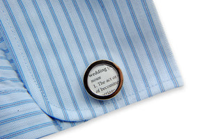 Wedding Cufflinks - Definition of  FOREVER - Love - Wedding Cuff links - Gwen Delicious Jewelry Designs