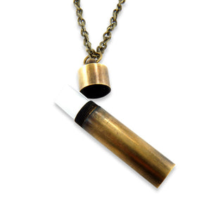 Secret Message Brass Necklace - Gwen Delicious Jewelry Designs