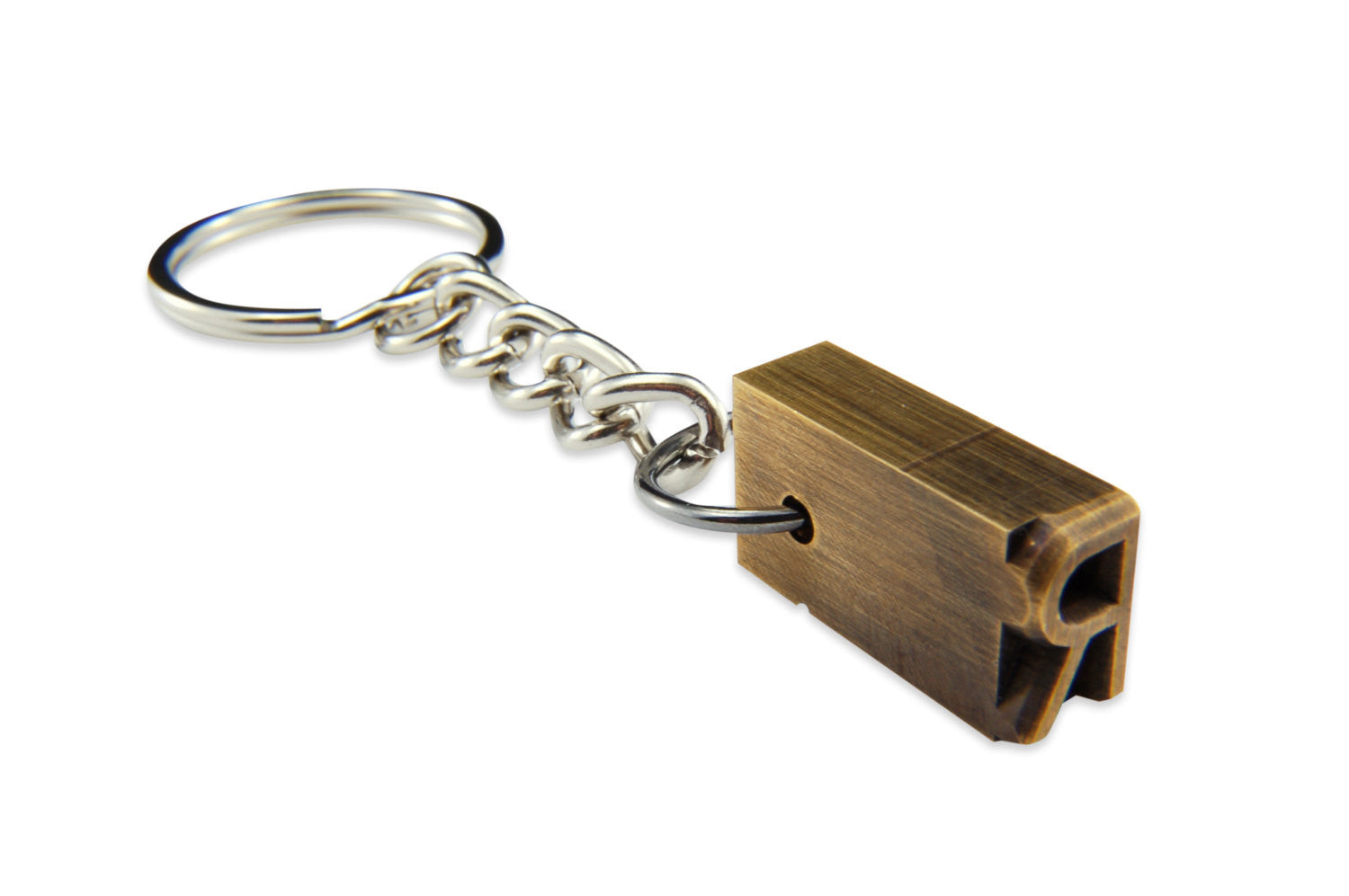 Brass Letterpress Keychain - Gwen Delicious Jewelry Designs