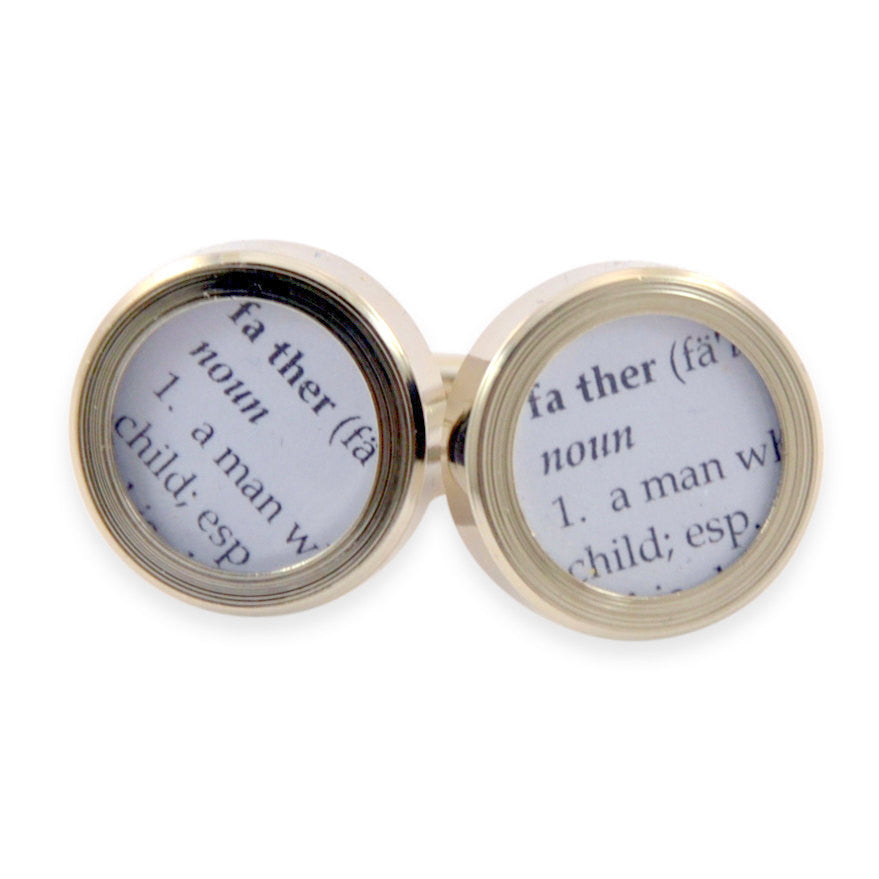 Definition of FATHER - Cuff links - Gwen Delicious Jewelry Designs