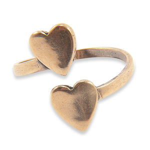 Double Heart Ring - Gwen Delicious Jewelry Designs