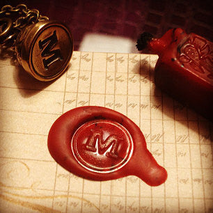 Custom Initial Letter Seal Stamper Necklace