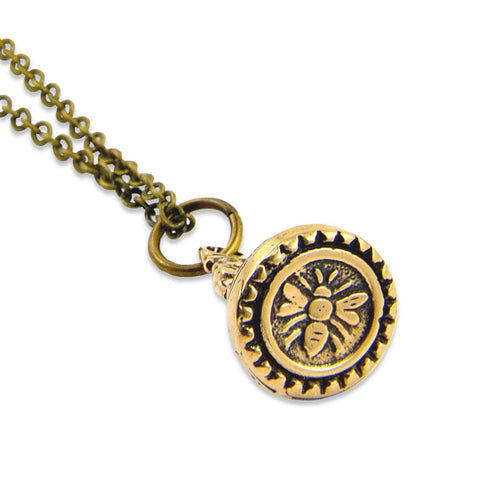 Bee Wax Seal Stamper Necklace