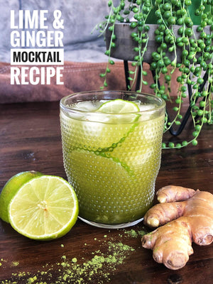 Lime and ginger mocktail
