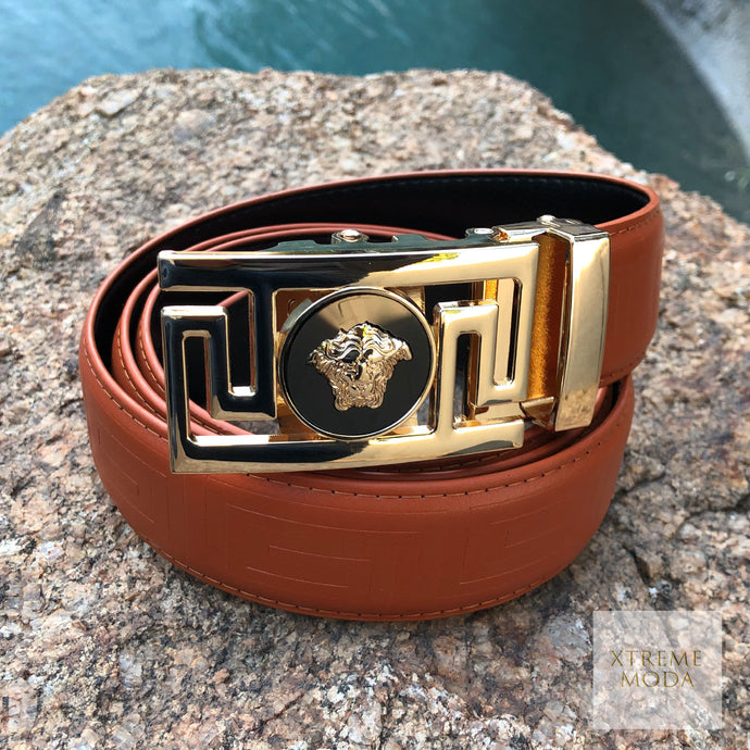 Half lion face Buckle  automatic belt 2 colors