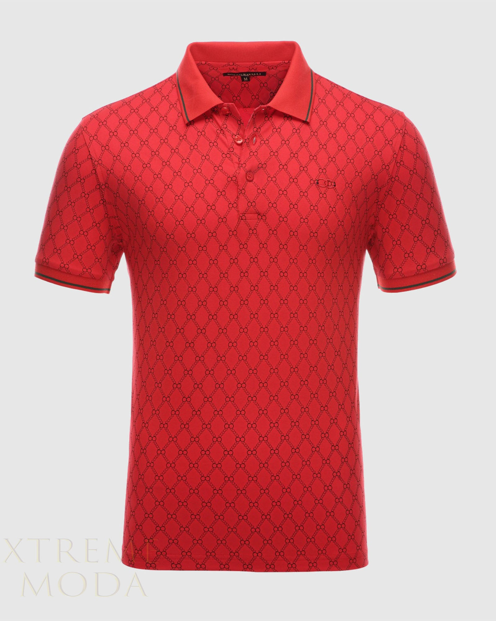 Modern fit Ravalli  polo shirt  RP-3004 Red