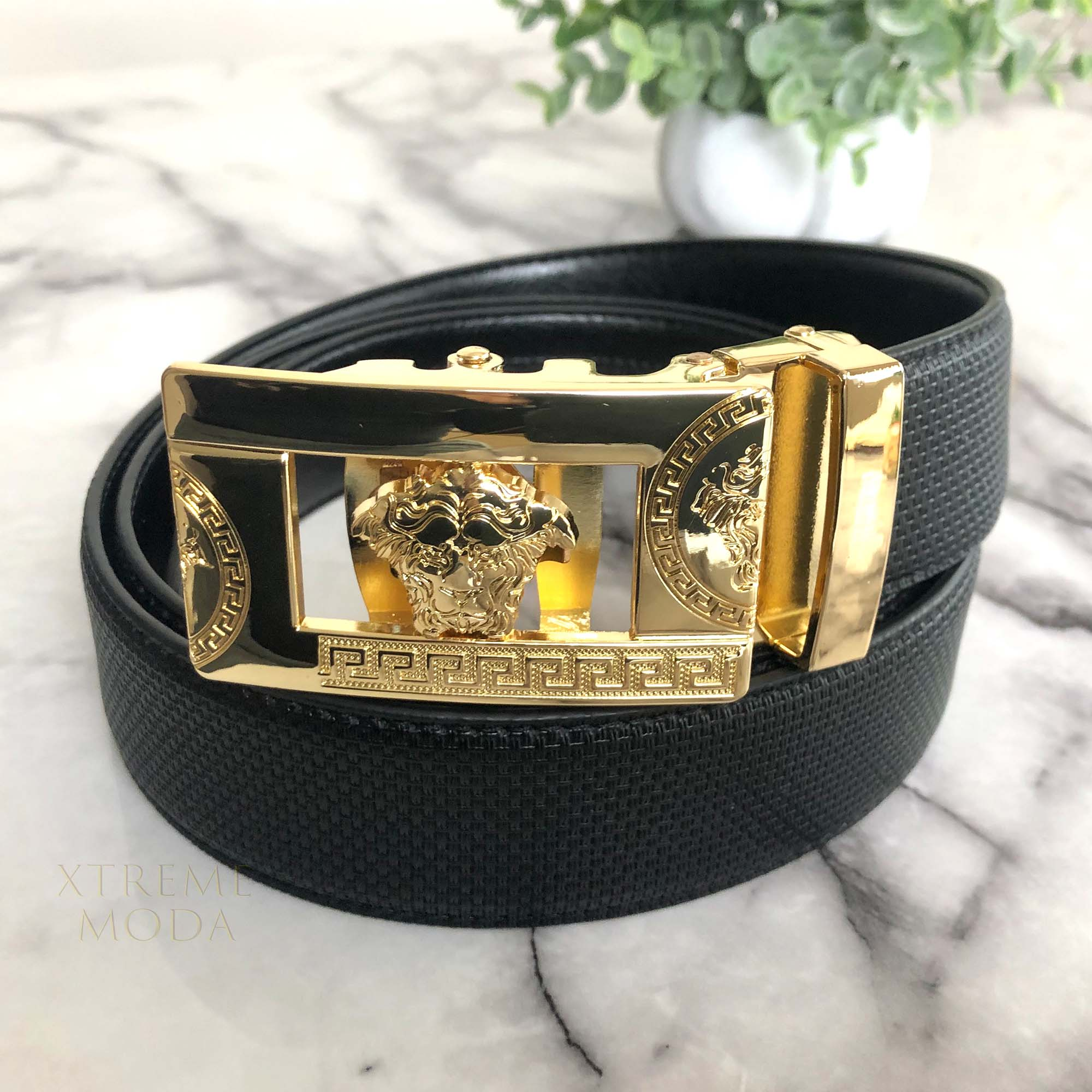 Half lion GLD buckle automatic belt 3 colors