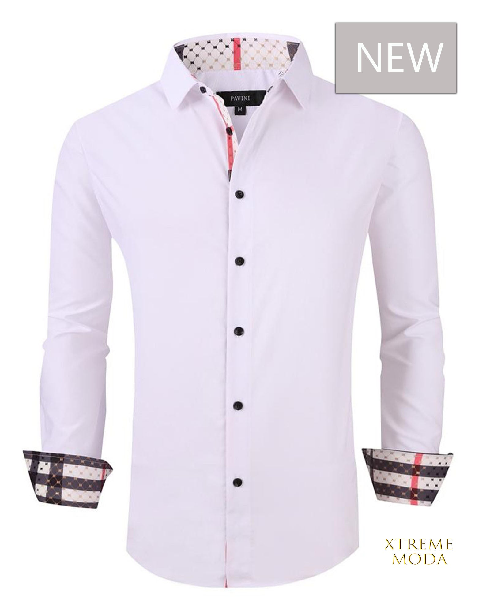 Regular fit  stretch shirt  020-0400 White