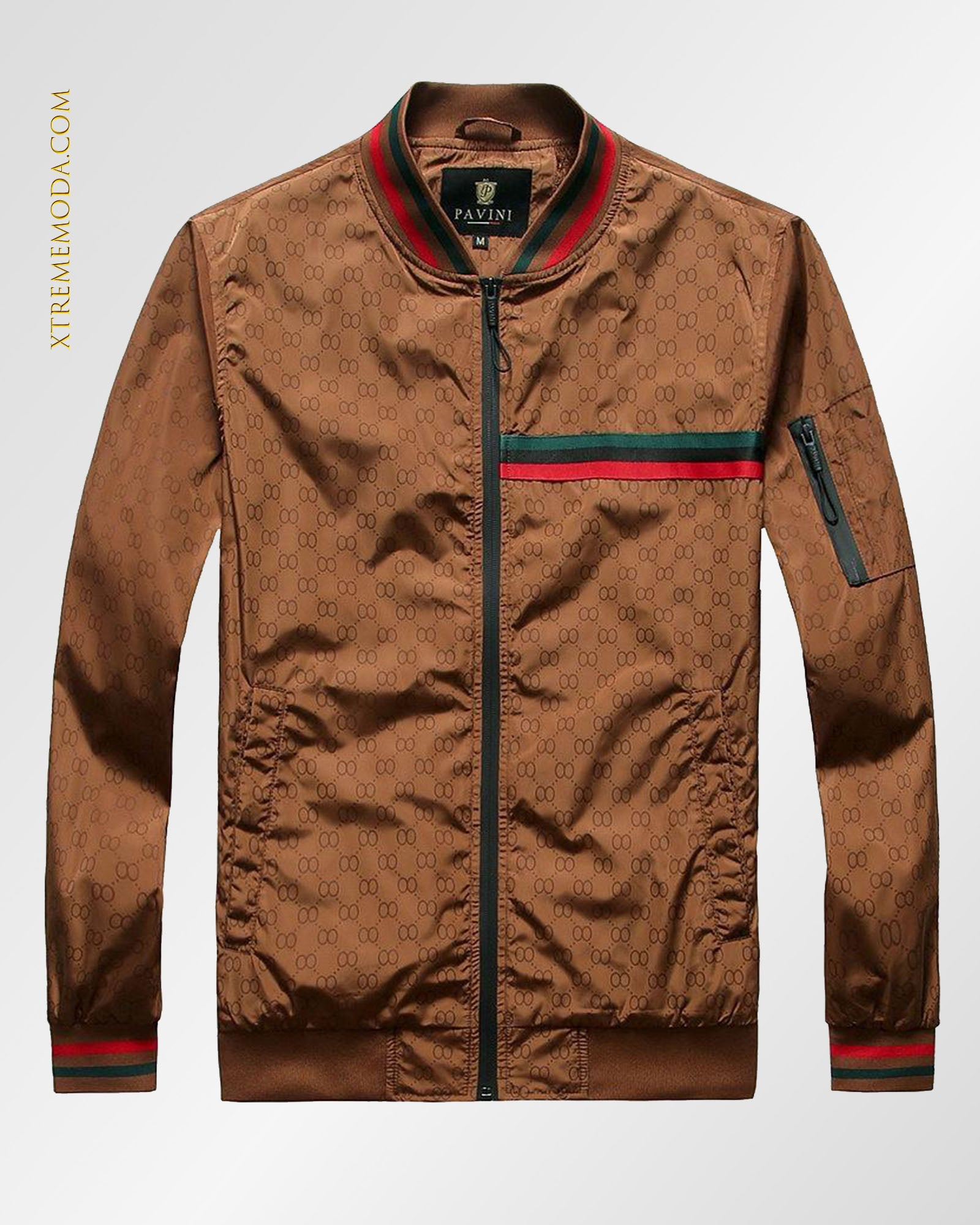 Slim fit Lightweight Bomber jacket Brick