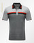 Eight pattern polo shirt Gray