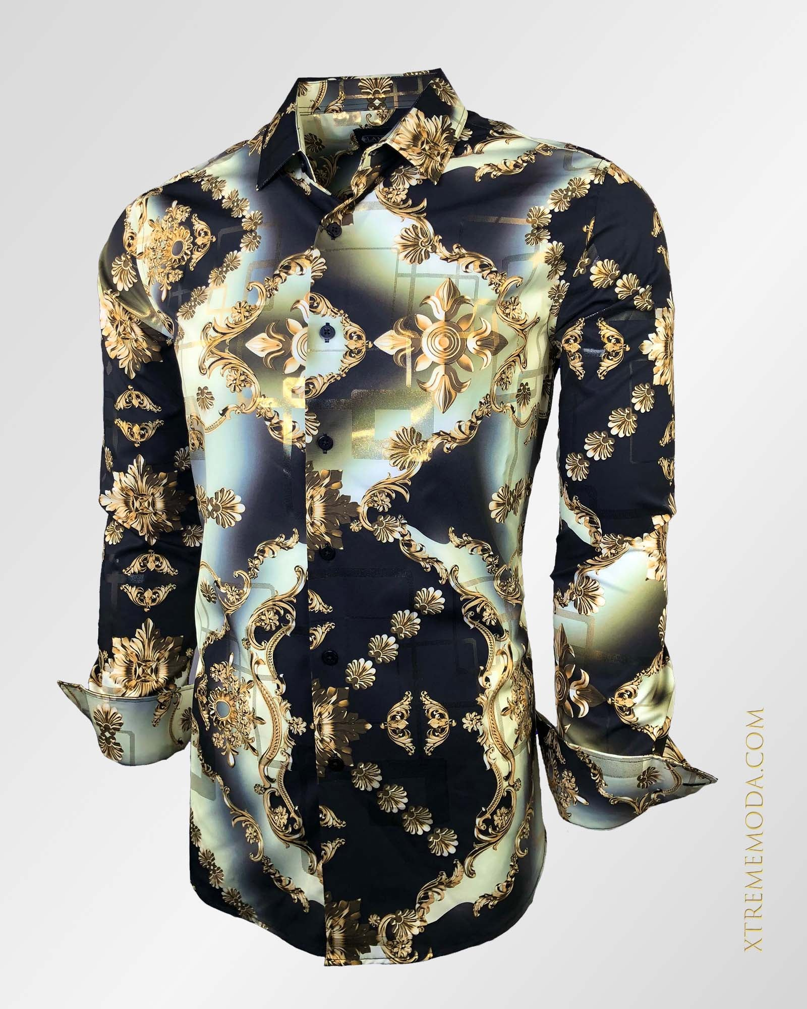 Modern fit Lamasini Fashion shirt 1731 Gold