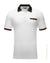 Double 0 design polo shirt White