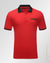 slim fit  double 0 design polo shirt Red