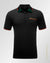 slim fit  double 0 design polo shirt Black