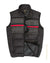 Modern fit quilted zip Vest Black