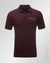 Double 0 design polo shirt Burgundy