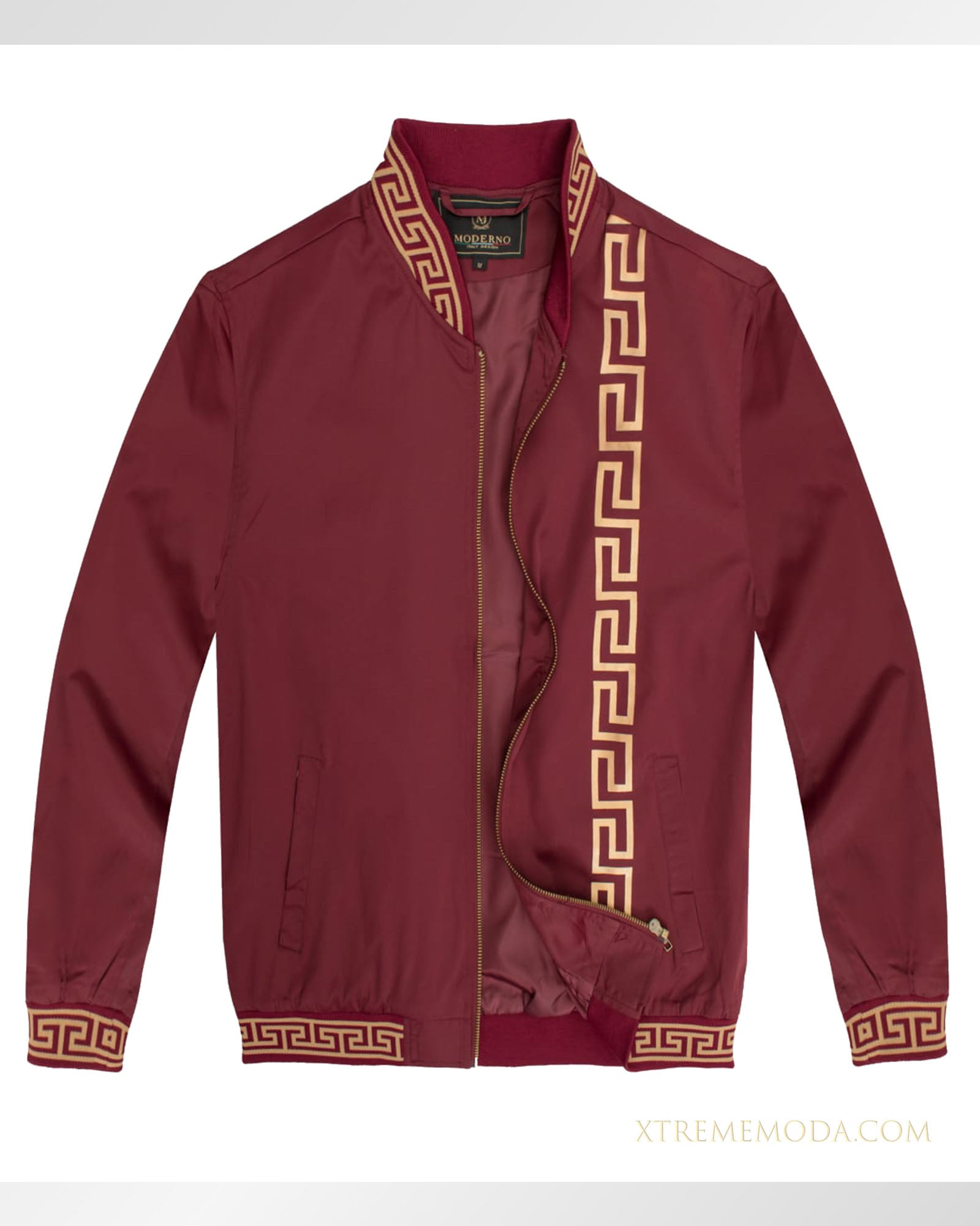 Slim fit Lightweight Bomber jacket Burgundy