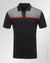 Pattern logo polo shirt Black