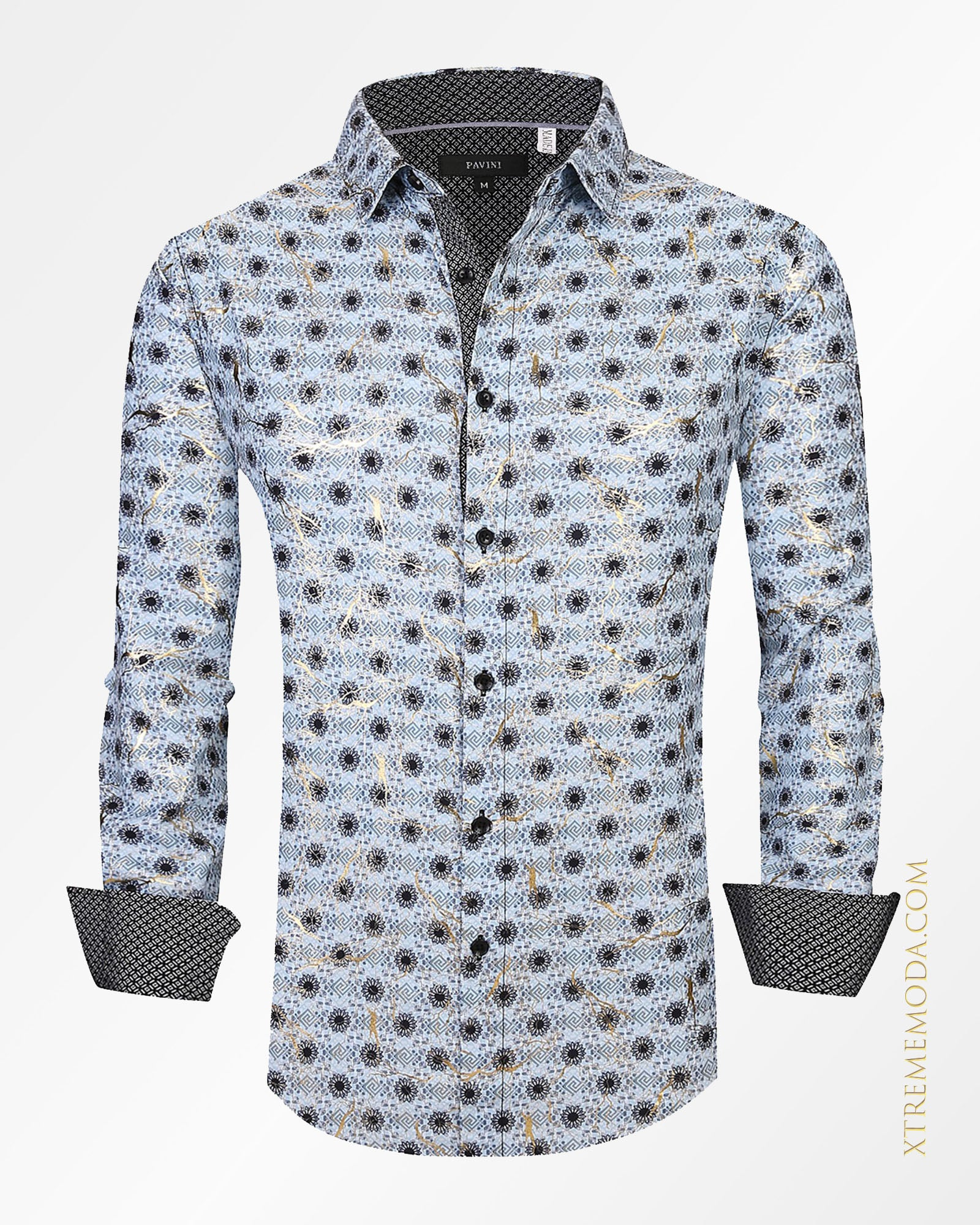 Regular fit Foil details shirt  Blue