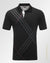 Print fashion stripes polo shirt Black
