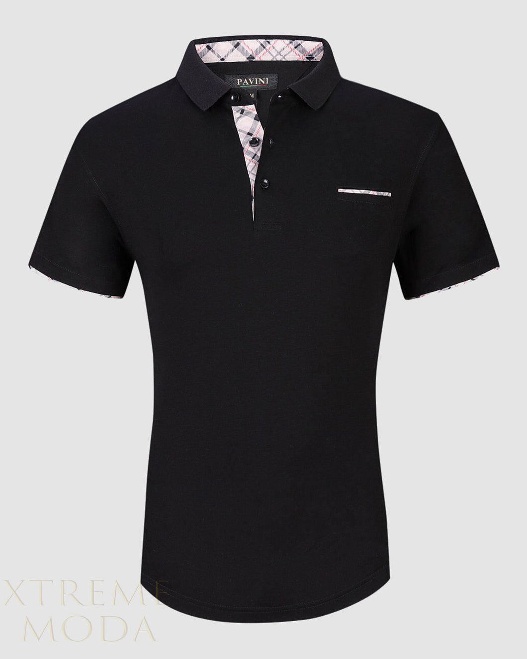 SLIM fit Pavini polo shirt  PT-944 black