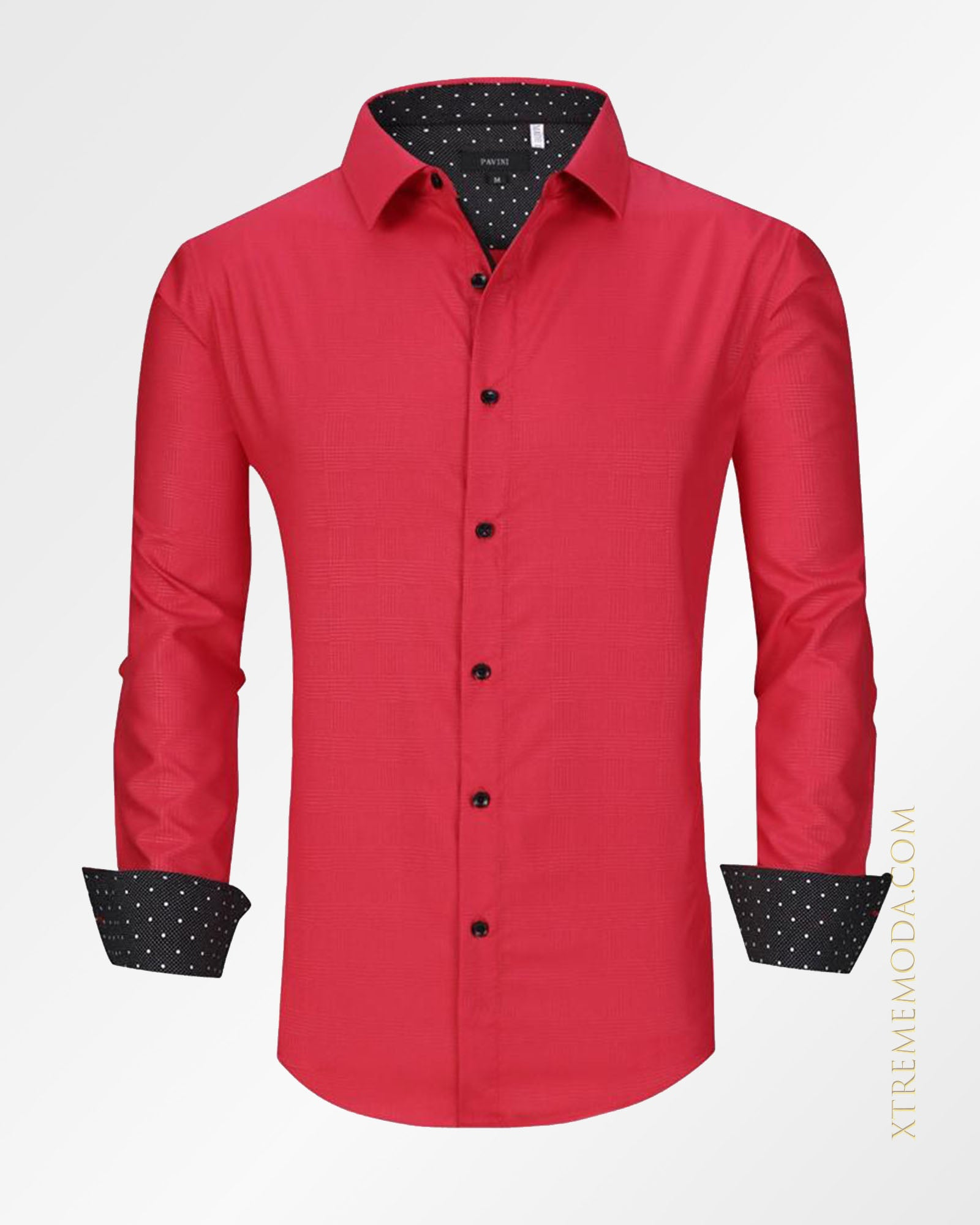 Silky style fashion shirt  Red