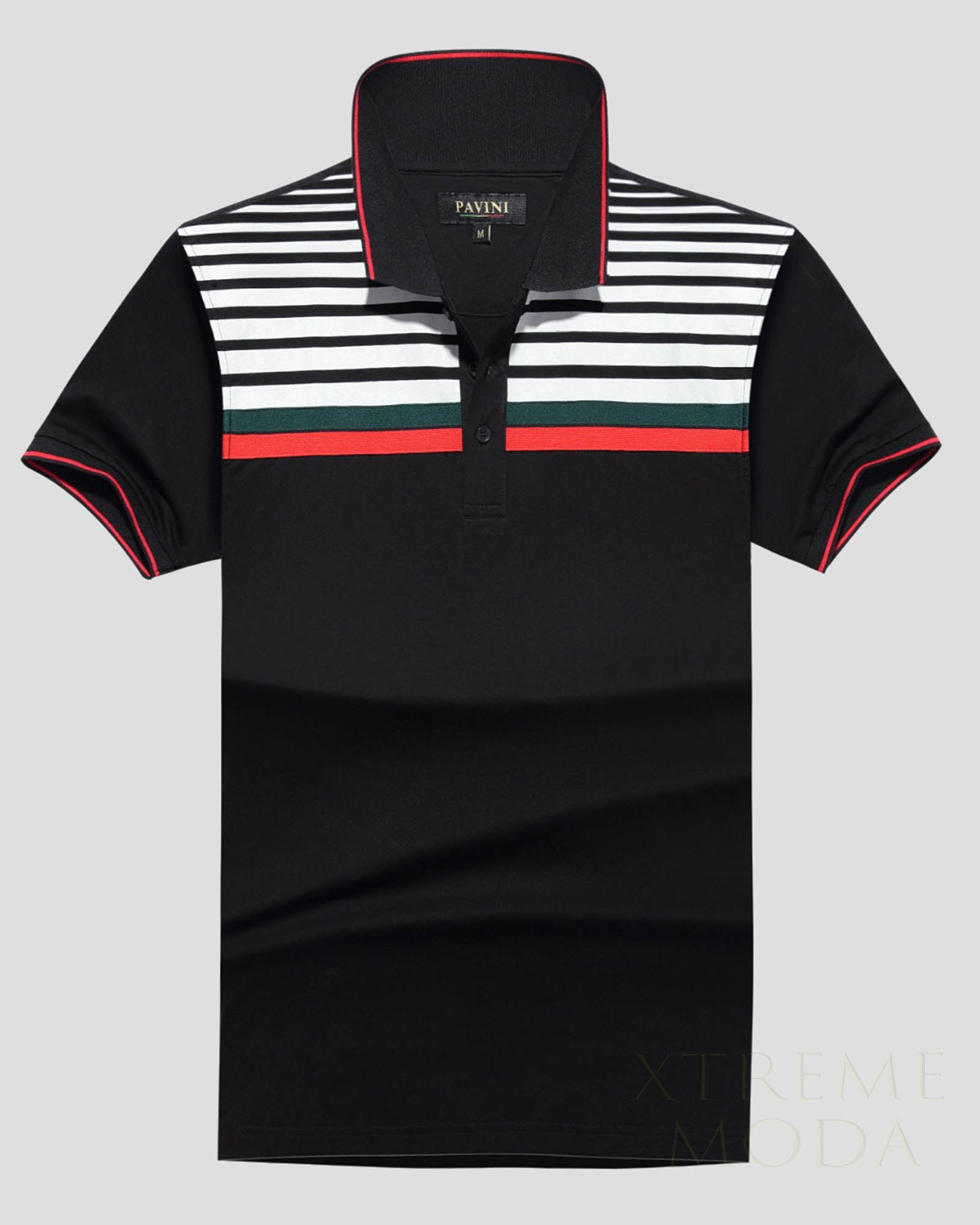 Pavini polo shirt  PT-950 Black