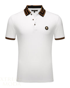 SLIM fit pique polo shirt  PT-949 White